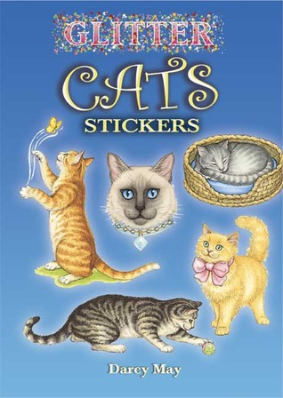 STICKERS:  Glitter Cats Stickers NOT A BOOK