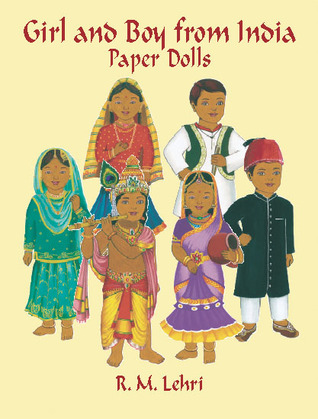 Girl and Boy from India Paper Dolls  by  R.M. Lehri