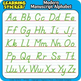 Modern Manuscript Alphabet: Learning Stickers! Scholastic Inc.