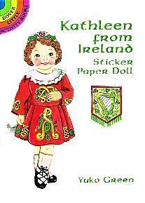 Kathleen from Ireland Sticker Paper Doll Yuko Green