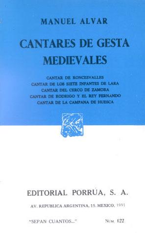 Cantares de Gesta Medievales (Sepan Cuantos, #122) Manuel Alvar