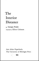 The Interior Distance Georges Poulet