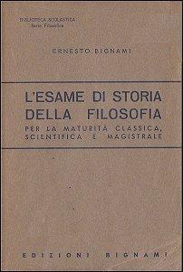 Lesame di storia della filosofia Ernesto Bignami