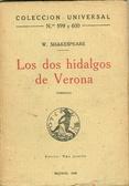 Los dos hidalgos de Verona  by  William Shakespeare