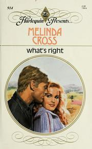Whats Right  by  Melinda Cross