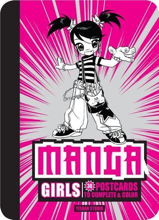 Manga Girls: 30 Postcards to Complete & Color Yishan Studio