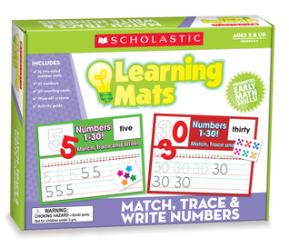 Match, Trace & Write Numbers Learning Mats  by  Scholastic Teaching Resources