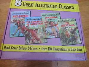 8 Great Illustrated Classics - Hard Cover Deluxe Editions (Set # E244-33 to E244-40) [Boxed Set]  by  Walter Scott