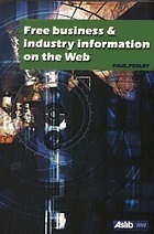 Free Business and Industry Information on the Web  by  Paul Pedley