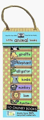 Green Start Book Towers: Little Animal Books: 10 Chunky Books Made from 98% Recycled Materials Ikids