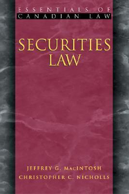 Securities Law  by  Christopher Nicholls