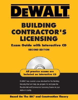 Dewalt Building Contractors Licensing Exam Guide [With CDROM] American Contractors Exam Services