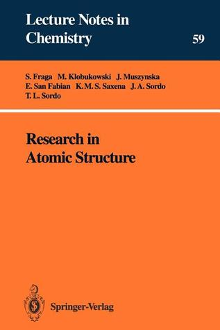 Research In Atomic Structure Serafin Fraga