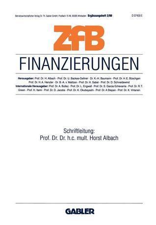 Finanzierungen Horst Albach