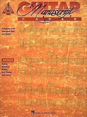 Recorded Versions Guitar Tablature Manuscript Paper  by  Hal Leonard Publishing Company