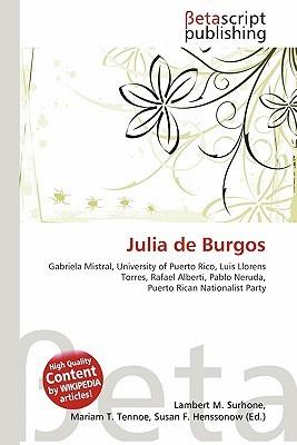 Julia de Burgos NOT A BOOK
