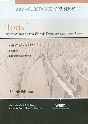 Finz and Levines Sum and Substance Audio on Torts, 4th (Disc for a MP3 Download)  by  Steven R. Finz