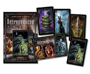 Necronomicon Tarot Cards Kit [With BookWith Tarot CardsWith Black Organdy Bag]  by  Donald Tyson