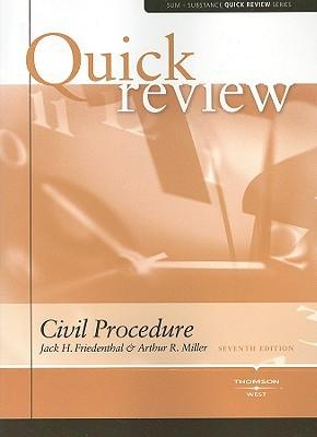 Sum & Substance Quick Review on Civil Procedure  by  Arthur Raphael Miller