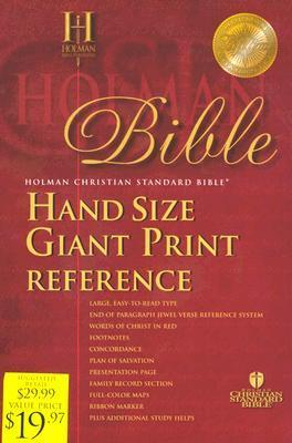 HCSB Hand Size Giant Print Bible, Blue Imitation Leather  by  Anonymous