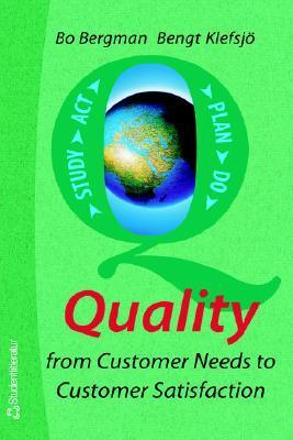 Quality from Customer Needs to Customer Satisfaction Bo Bergman