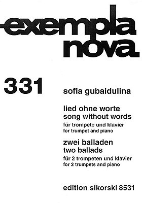 Song Without Words & Two Ballads: Trumpet and Piano Sofia Gubaidulina