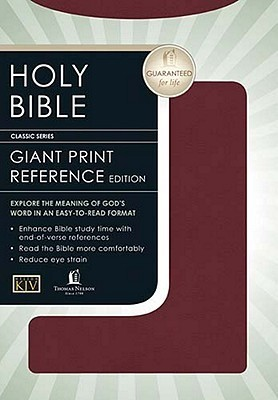Holy Bible Giant Print Reference Edition- King James Version Anonymous