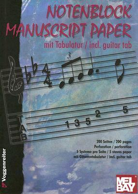 NOTENBLOCK MANUSCRIPT PAPER - STAVES AND GUITAR TAB Voggenreiter