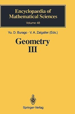 Geometry III: Theory of Surfaces (Encyclopaedia of Mathematical Sciences) (v. 3)  by  Yu.D. Burago