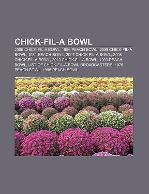 Chick-Fil-A Bowl: 2006 Chick-Fil-A Bowl, 1986 Peach Bowl, 2009 Chick-Fil-A Bowl, 1981 Peach Bowl, 2007 Chick-Fil-A Bowl, 2008 Chick-Fil-  by  Source Wikipedia