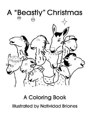 A Beastly Christmas Coloring Books -- 5-Pack Natividad Briones