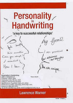 Personality In Handwriting: A Key To Successful Relationships Lawrence Warner