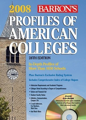 2009 Barrons Profiles of American Colleges 28 Edition with CD-ROM Barrons Educational Series