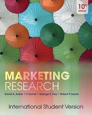 Marketing Research.  by  David A. Aaker