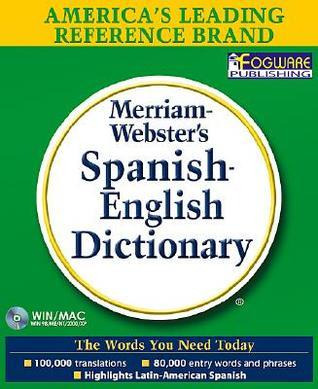 Merriam-Websters Spanish-English Dictionary on CD-ROM Merriam-Webster