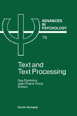 Text and Text Processing  by  DENHIERE G.