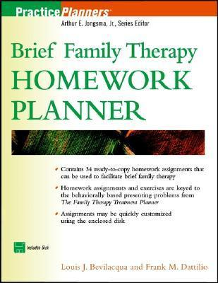 Brief Family Therapy Homework Planner [With Disk]  by  Louis J. Bevilacqua