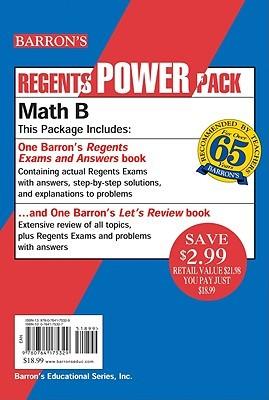 Regents Power Pack-Math B Lawrence S. Leff