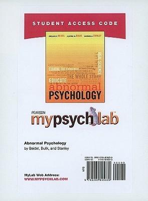 MyPsychLab Student Access Code Card for Abnormal Psychology Deborah C. Beidel