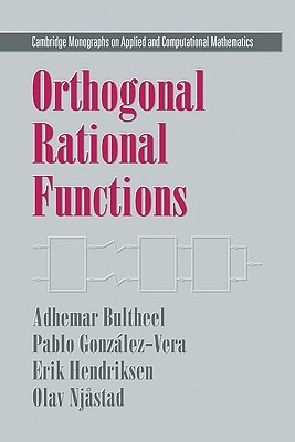 Orthogonal Rational Functions  by  A. Bultheel