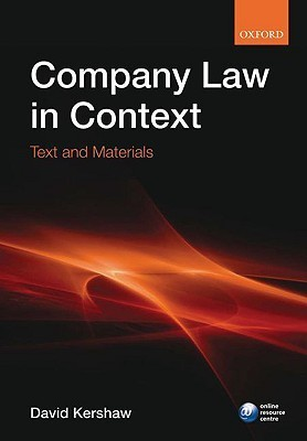 Company Law in Context: Text and Materials  by  DAVID KERSHAW
