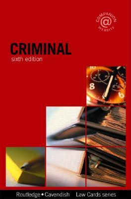Criminal Lawcards  by  Routledge