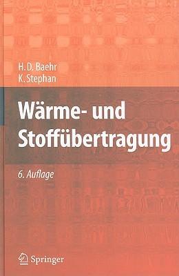Wärme  Und Stoffübertragung  by  H.D. Baehr