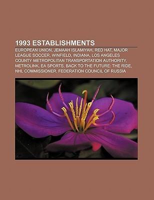 1993 Establishments: European Union, Jemaah Islamiyah, Red Hat, Major League Soccer, Winfield, Indiana Source Wikipedia
