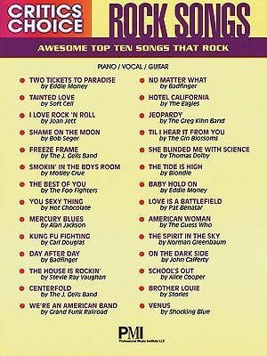 Critics Choice: Rock Songs  by  Hal Leonard Publishing Company