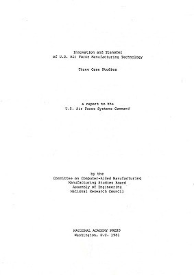 Innovation and Transfer of U.S. Air Force Manufacturing Technology Committee on Computer-Aided Manufacturin