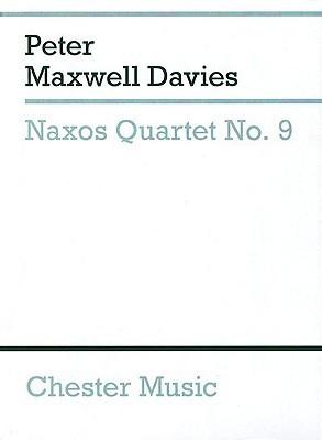 Naxos Quartet No. 9: String Quartet Study Score  by  Peter Maxwell Davies