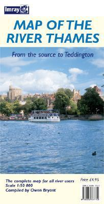 Map Of The River Thames: From The Source To Teddington  by  Owen Bryant