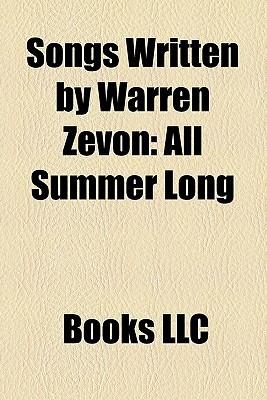 Songs Written By Warren Zevon Books LLC