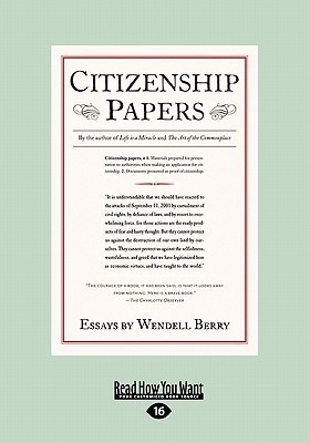 Citizenship Papers Wendell Berry